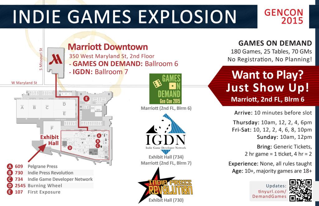 Games on Demand - Gen Con 2015 - Indie Games Explosion Map